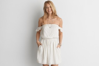 AEO Off-The-Shoulder Fit and Flare Dress
